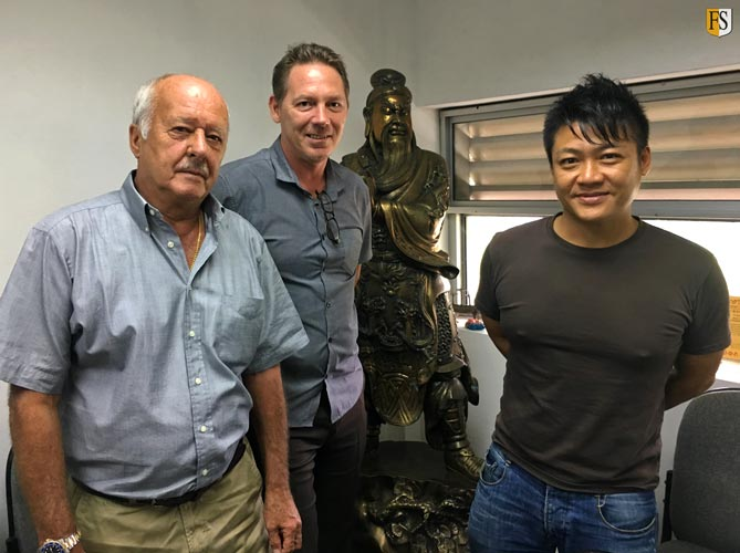 Steve Baldry and Paal Mathisen - Fire Security in Singapore Meeting with Ron Lim from Boon Hong Engineering