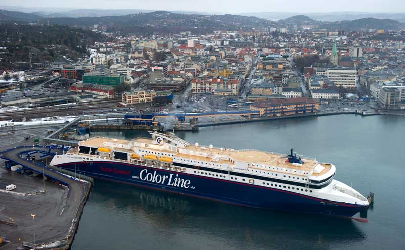 SuperSpeed 1 is a passenger and car ferry sailing between Kristiansand Norway and Hirtshals in Denmark.