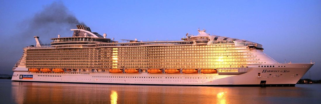 Harmony of the Seas - RCCL - World's biggest cruise ship as of 2016.