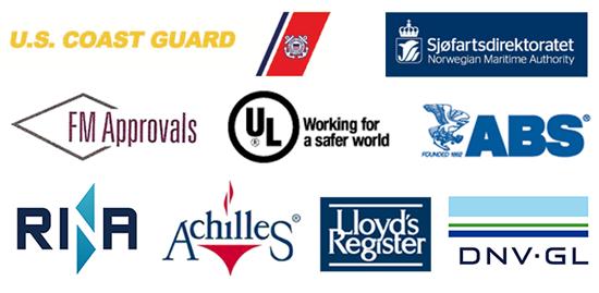 Approvals logos