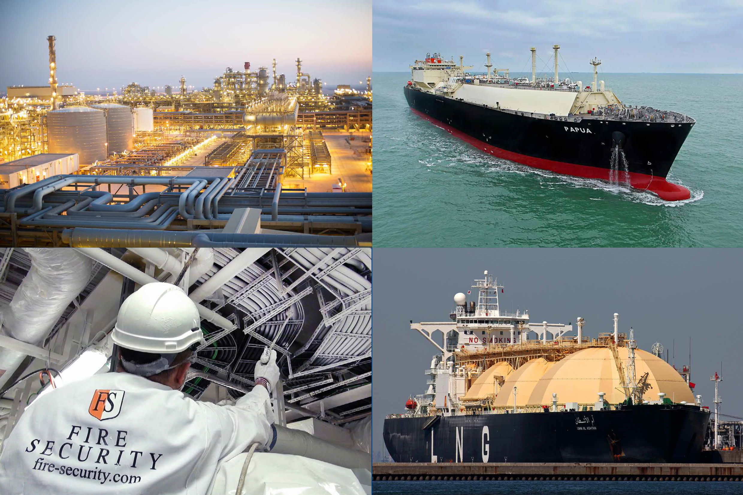 Fire Security protects LNG carriers and refineries