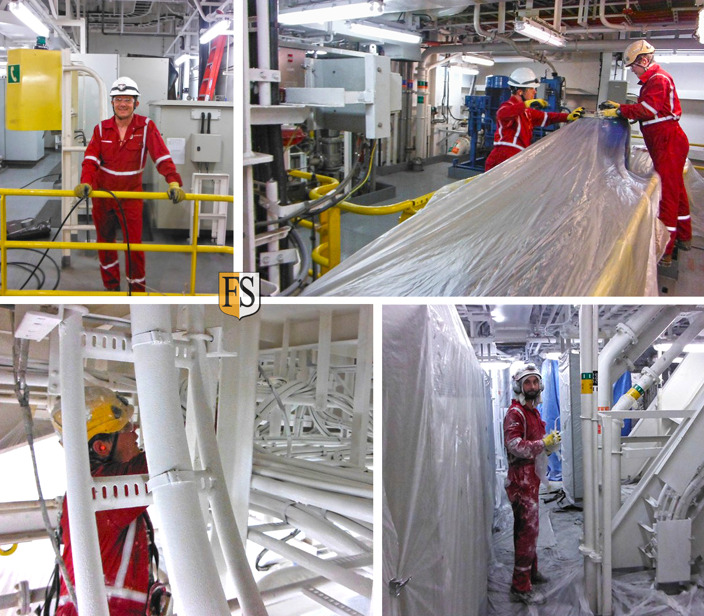 Cable coating with FS1 approved by DNV on the drill ship