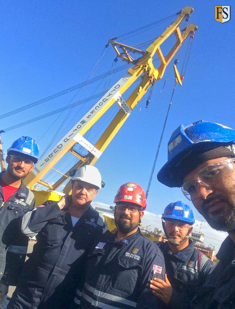 Fire Security completed repair and upgrade of cables on Abu Dhabi based National Drilling Company ADNOC Rig Beynouna