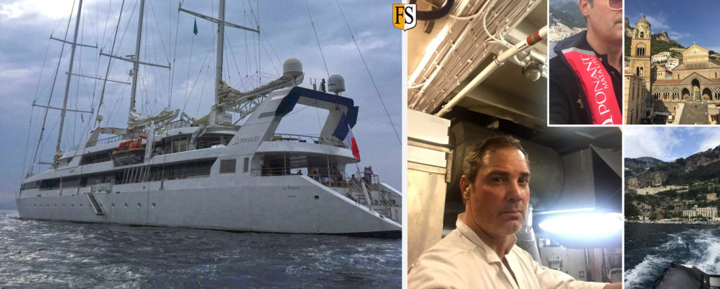 Cable fire proofing on board the french cruise ship le ponant