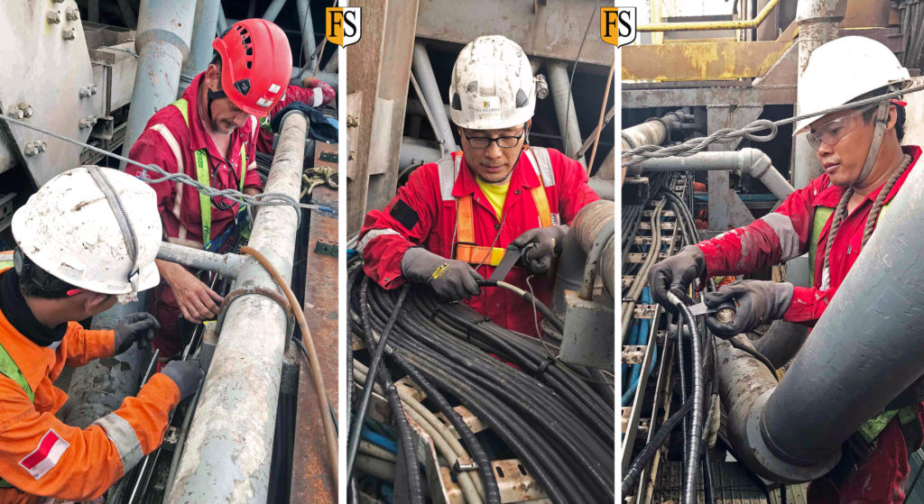 Cable repair in Singapore with DNV-GL approved system.